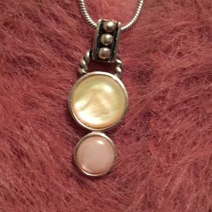 Jewelry - Thai Sterling Pink & Yellow MOP Pendant